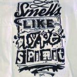 Schwarz/weiss bedrucktes T-Shirt