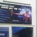 Werbebanner eines Fitness Studios