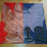 FCB Fahne mit Basilisk