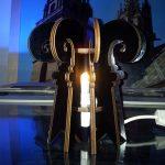 Design Baslerstab Lampe aus Holz