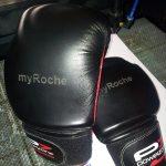 Boxhandschuhe mit eingraviertem Firmennamen