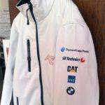 Softshell Jacke mit Siebdruck Transfer bedruckt