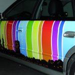 bedruckte Fahrzeugfolie auf Autotüren