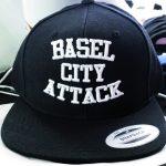 besticktes Snapback Basel schwarz