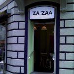 Beschriftung eines Restaurant Eingangs