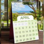 Kalenderbild mit individuellem Urlaubsfoto